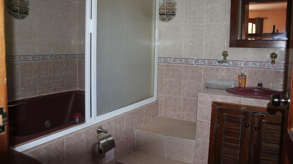 Villa Mango Puerto Escondido Manila king private room bathroom 1